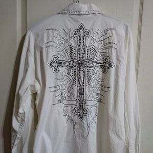 Mens White Victorious Shirt